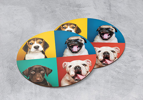 Create your own photo coasters