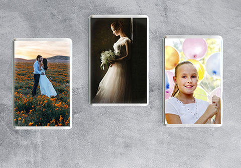 Create a photo magnet as a gift