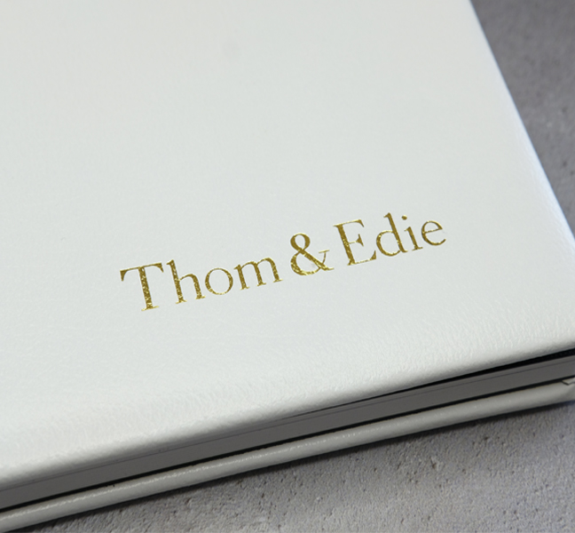 Gold leaf cover text