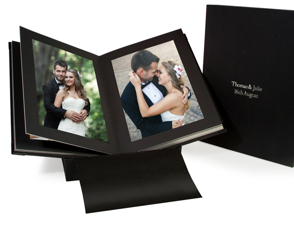 Handmade matted photo album
