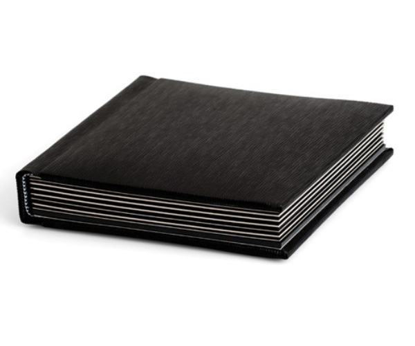 Matted black photo album