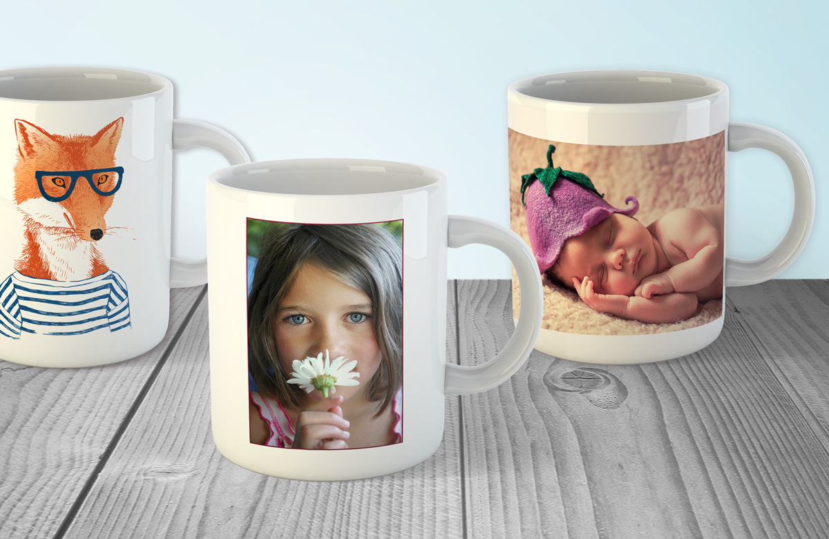 Photo mugs for weddings and special occasions